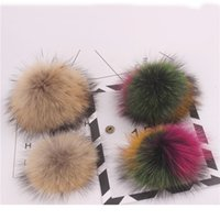 Genuine natural silver fox fur pompom super 15cm- 18cm fashio...
