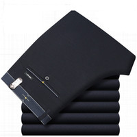 ICPANS Erkek Pantolon Ofisi resmi Business Akıllı Suit Pantolon Erkekler Polyester Pamuk Klasik Gelinlik Pantolon Erkek Siyah Mavi 2019 MX191118