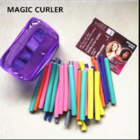 Moda Bendy Silindirler Flexi Çubukları 42pcs anda / Set 7 Stiller Diy Saç Curling Çubukları Magic Saç Roller Yumuşak Flex Çubukları İçin Saç