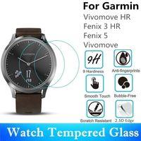 10шт закаленное стекло для Garmin Fenix 5 Vivomove HR круглые часы протектор экрана Fenix 3 HR защитная пленка