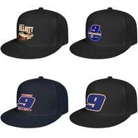 hombre y mujeres Chase Elliott No.9 se ciñen Hip personalizada baseballcap Hopflat brimhats NASCAR 9 logotipo # 9 2019 Hooters Naranja E