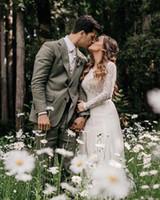 Beach Bohemian Wedding Dresses Sexy Backless Long Sleeve Country Boho Bridal Gowns 2019 Custom Made Wedding Dress BC1704