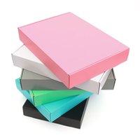 5pcs / 10pcs / kraft boîte paquet de couleur gros petite boîte cadeau blanche 3 couche ondulée peut être la taille et le logo imprimé sur mesure