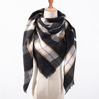 Designer Brand Women Scarf Fashion Plaid Winter Scarves For ...