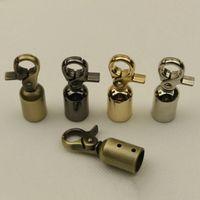 Väskor Metalltillbehör DIY Buckles Bell Pull Braided Rope Buckle Stoppar Sladd Av För Bag Decoration