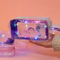 Kawaii Quicksand Bleistiftkoffer Hohe Kapazität Bleistift Tasche Transparent PVC Glitter Bleistiftkoffer für Mädchen Pen Box Schulbedarf