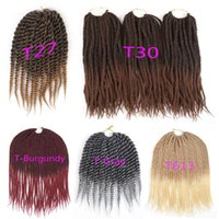 Synthetic Crochet Braids Hair 12 or 30 Strands Pack Ombre Tw...