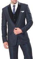 New Arrival Groom Tuxedos Dark Grey Groomsmen Wedding Dinner...