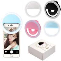USB Şarj edilebilir 36 LED Kamera Telefon On Selfie'nin Halka Işık Klip Işık beyazlatmak Güzellik Zayıflama Fotoğrafçılık Lambası Yenilik Öğeleri doldurun OOA6647-1
