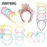 Parti Malzemeleri Kızın Kedi Kulakları Bantlar Taç Tiara Prenses Plastik Hayvan Saç Bandı Kelebek Yay Hoop Aksesuarları Şapkalar