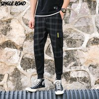 SingleRoad Plaid Casual Pants Men 2019 Pantalons Slim Fit Joggers Hommes Streetwear Pantalon Mâle Pantalon de Jogging De Haute Qualité Stretch