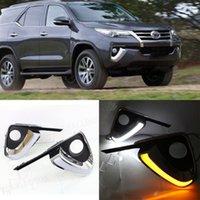 Auto-Tech 1 feux de jour LED voiture de remplacement DRL pour Toyota Fortuner 2015-2019