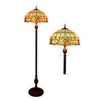 Barroco antigo vitrais lâmpadas Tiffany lâmpada de assoalho café hall do hotel estudo quarto lâmpada de assoalho TF027