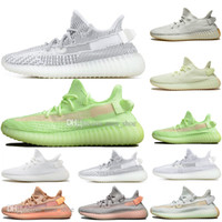 Drop Shipping Kanye West Clay V2 Static Reflective Glow In The Dark Scarpe da corsa da uomo Hyperspace True Form Women Sports Designer Sneakers