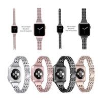 ووتش العصابات اكسسوارات استبدال الماس الفرقة المعادن لشركة آبل ووتش 38MM 40MM 42MM 44mm ورباط المعصم سوار iWatch سلسلة 5 4 3 2 1