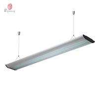 LED 긴 알루미늄 매달 라이트 사각형 현대 반사경 T5 튜브 라이트 오피스 휘트니스 라이브러리 빛나는 장식 왕조의 조명