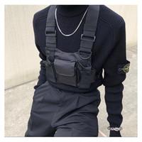 Schwarze taktische Tasche Harness Tasche Männer Nylon Brusttasche Hip Hop Streetwear Funktionale Junge Brust Rig Kanye West Wist Pack Tactical Taille Packung
