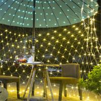 la red LED de 1,5 m * 1,5 m de luz 2m * 2m * 3m 2m 6m * 4m 8m * 10m de Navidad jardín boda al aire libre luces decorativas CRESTECH