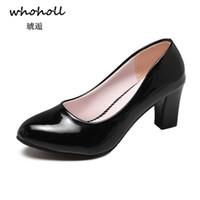 Robe Whoholl En Cuir Peint Pour Femmes Chaussures Habillées Confortable Travail Doux Chaussures À Talons Hauts Bureau Élégant Bureau Dame Escarpins À Grande Taille 40