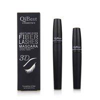 QiBest 3D волокна ресницы тушь для ресниц Waterproo косметика тушь для ресниц черный двойной тушь набор макияж ресницы Ресницы с волокном ресницы GGA1799