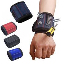 Ремонт сумка для инструментов Магнитный браслет адсорбции ногтей сверла винты держатель электрик наручные инструменты пояса магнитные браслеты набор инструментов
