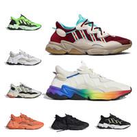 Chegada Nova 2019 de alta qualidade Raf Simons X Sapatilhas Consortium Ozweego 2 corrida ao ar livre Sapatos Homens Woemn Red respirável Atlético Sport Shoes