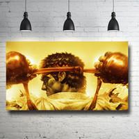Street Fighter Poster HD Impresión de la Lona Pintura Moderna Arte de la Pared Para la Sala de estar Decoración Del Hogar Sin Marco / Sin Marco