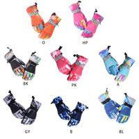 Erwachsene Kinder Unisex Winter-Wasserdicht verdicken Warm Touch Screen Schnee Handschuhe Tarnung Printed Snowboard Ski Griffige Fäustlinge