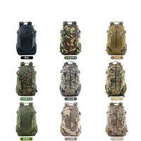 Mochilas de camuflaje para montar Mochilas multifuncionales Bolsa de equipaje casual Acampar al aire libre Senderismo Khaki Army Green Oxford Fabric 48 51hy O1