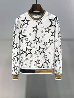 Mens Designer Hoodie Sweater Star Pattern Print Fashion Styl...