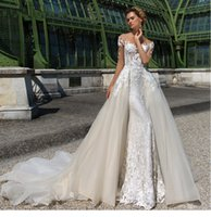 Sexy Off- the- shoulder A- Line Wedding Dresses Long Sleeve 2 I...