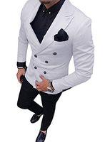 Abiti da uomo su misura da uomo di alta qualità Risvolto 2 pezzi Giacca e pantaloni per sposo da sposa PROM Party smokings Masculino Blazer