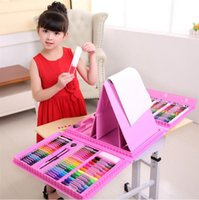 Childen 176pcs Art Set Waterolor Pen With Easel Colour Pentbrush Mobile Studio Painting Supplies Arts Gives HA335