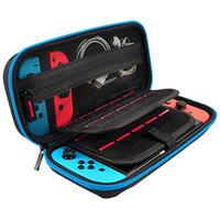Para Nintendo Switch Travel Llevar Portable Eva Bag Storage Funda protectora de la funda protectora de la bolsa de la bolsa para el conmutador de la consola del interruptor Manejar casos más nuevos