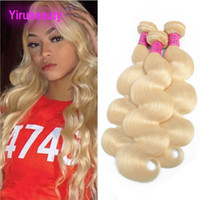 Brazilian Virgin Human Hair Bundles 613# Blonde Smooth Strai...