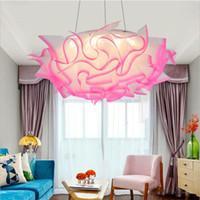 Mordern 꽃 디자인 LED 천장 조명 원격 컨트롤러 Dimmable 침실 LED 펜던트 램프 거실 천장 조명기구