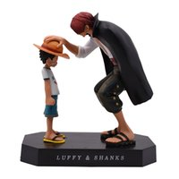 Anime One Piece Quatre empereurs Shanks Luffy action PVC Figure Merry Doll Modèle Going collection Toy cadeau de Noël
