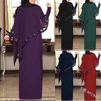 Musulmano chiffon Abaya kimono Hijab Dress Capo arabo Dubai donne africane Pakistan caftano caftano Marocain Qatar Abbigliamento islamico