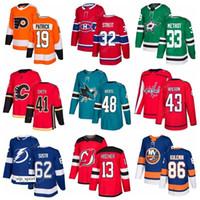 Selección del draft de hockey New Jersey Devils 13 Nico Hischier Jersey Philadelphia Flyers 19 Nolan Patrick Dallas Stars 33 Miro Heiskanen Men