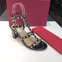 2019 design de luxo mulheres sandálias sandálias designer de gladiador mulheres rebite sapatos nude sexy de salto alto extremas vermelhas bombas 6,5 centímetros calcanhar size34-