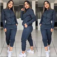 3 renk Kadın 2adet Tasarımcı Suits Giyim Moda Kadın eşofman Kapşonlu Uzun kollu Pantolon Spor Takımları