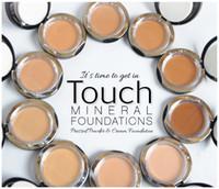 Heißer Verkauf Kosmetik Touch Mineral Pressed Creme Foundation Grundiertes Pulver 10 Farbe Beste Qualität Kompaktes Gesichtskuchen Pulver Makeup Kostenloses DHL-Schiff