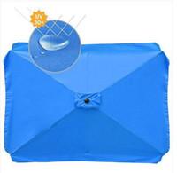 Les ventes chaudes!!! Wholesales Rectangle Umbrella Canopy remplacement Table marché extérieur Sunbrella Couverture