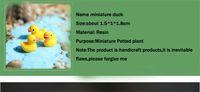3D bonito resina mini-pequena pato amarelo 4pcs 18 * 15 * 10mm Resina Artesanato kawaii decoração cabochão Flatback