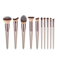 Luxus Champagner Make-Up Pinsel Set Für Foundation Powder Erröten Lidschatten Concealer Lip Eye Make-Up Pinsel Kosmetik Beauty Tools