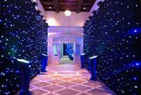 led étoile rideau 3mx12m mariage toile de fond scène fond tissu avec multi contrôleur dmx fonction livraison gratuite LLFA