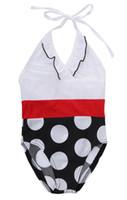Meninas Swimwear Princesa Do Bebê new print Dot Um Pedaço Swimsuit Banho De Natação Traje Trajes De Banho Beach Wear maiô para meninas
