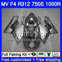Gris plateado Cuerpo para MV Agusta F4 750S 1000R 312 1078 1 + 1 2005 2006 05 06 320HM.39 MA R312 MV F 4 05 1000 R 750 1000CC 05 06 Kit de carenados