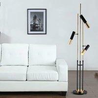 Modern svart guldgolv lampa villa restaurang vardagsrum sovrum förtjusande ike stående ljus armatur fa058
