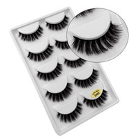 Mode 3D Mink False Eyelash Extension de cils épais naturels Cils à la main faux cils de faux visons 5 Paires / set RRA644